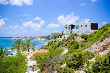 Villa on beach, Cyprus - Free image #449603