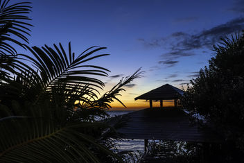 Gulf Sunset Beyond the Gazebo - image gratuit #451343