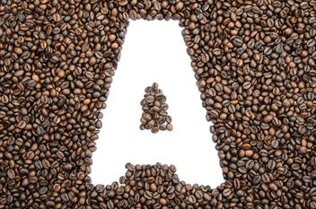 Alphabet of coffee beans - бесплатный image #451883