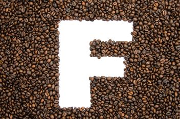 Alphabet of coffee beans - бесплатный image #451893