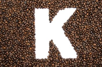Alphabet of coffee beans - бесплатный image #451903