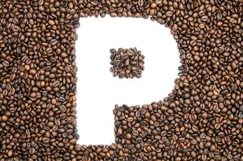 Alphabet of coffee beans - бесплатный image #451913