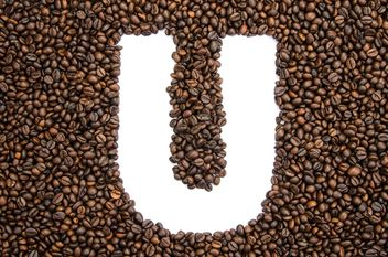 Alphabet of coffee beans - бесплатный image #451923