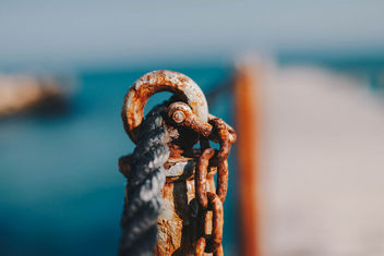 A rope and rustic sea bridge detail.jpg - Free image #452073