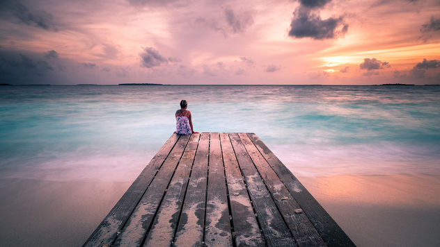 Peaceful Sunset - Maldives - Travel photography - Kostenloses image #455903