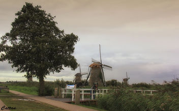 Holland - windmills of Kinderdijk - image #457463 gratis