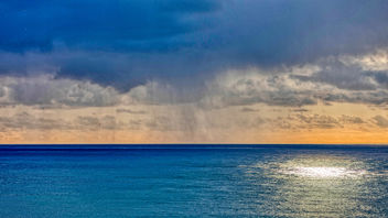 rain over the sea - image #458073 gratis