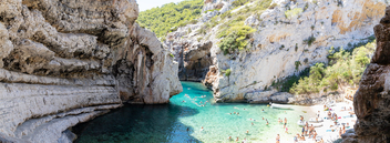 Cliffs at Stiniva Bay on Vis island, Croatia - Free image #463583
