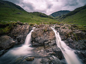 Double fall - Lake District, United Kingdom - Landscape photography - Free image #464103