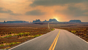Vanishing Point Highway to Monument Valley - Free image #473803
